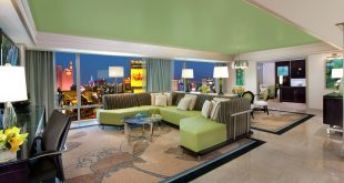 The Mirage Tower Suite Limeade Living Area
