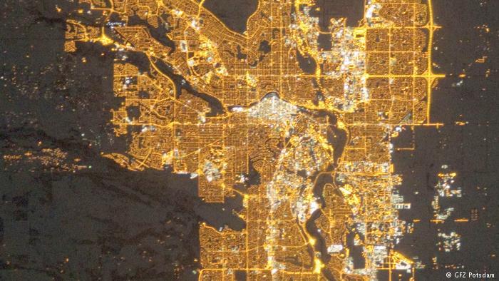 Kanada, Lichtverschmutzung Calgary 2010 (GFZ Potsdam)
